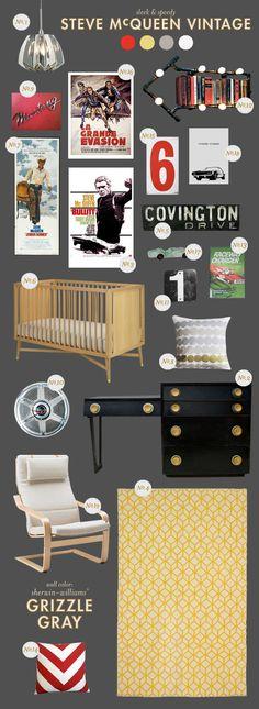 STEVE-MCQUEEN-VINTAGE-nursery inspiration style board