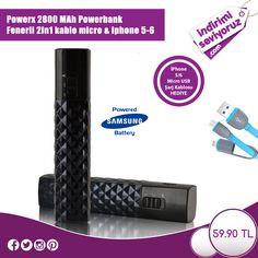 Şık ve kullanışlı bu ürüne sahip olmak istiyorsanız; https://www.indirimiseviyoruz.com/powerx-2800-mah-powerbank-fenerli-2in1-kablo-micro-iphone-5-6-urun1454.html #indirim #powerbank #fırsat #teknoloji