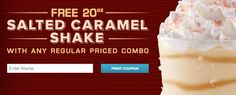 Free Arby's Salted Carmel Shake! Raining Hot Coupons - Hottest Coupons on the Web