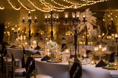 Add some black votives and candle holders for a pop of sophistication