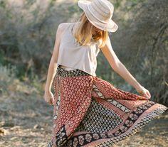 Katie D. - Printed Wrap Skirt