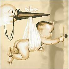 Stork Sending Baby 5D DIY Paint By Diamond Kit – Original Paint By Diamond Baby Boy Gift Baskets, Baby Boy Gifts, Baby Painting, Color By Numbers, Plastic Trays, Mosaic Crafts, 5d Diamond Painting, Cross Paintings, Creative Activities