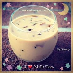 Simple small serving of milk tea from lovecha to start your week.