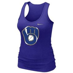 9911b4d6c60996 Nike Milwaukee Brewers Ladies Logo Slim Fit Tank Top - Royal Blue Lady