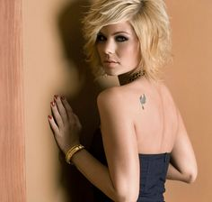 Picture: 'Best Ink' (Oxygen TV show) host Kimberly Caldwell. Pic is in a photo gallery for Kimberly Caldwell featuring 7 pictures. Layered Bob Hairstyles, Shag Hairstyles, 2015 Hairstyles, Straight Hairstyles, Bob Haircuts, Dianna Agron, Kimberly Caldwell, Curly Hair Styles, Natural Hair Styles