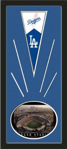 Los Angeles Dodgers Wool Felt Mini Pennant & Dodger Stadium Photo - Framed With Team Color Double Matting In A Quality Black Frame-Awesome & Beautiful-Must For A Championship Team Fan! Most NFL, MLB, NBA, Teams Available-Plz Mention In Gift Message If Need A different Team Art and More, Davenport, IA http://www.amazon.com/dp/B00HZJNTVG/ref=cm_sw_r_pi_dp_LMAEub00A55ZC