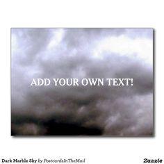 Dark Marble Sky Postcard
