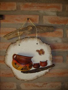 YUMBREL artesanias: Móviles en Pasta Piedra c/cacharros