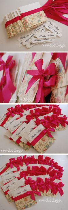 Tak, my też kochamy kwiatki!:))) Tym razem wersja z różową kokardą dla Pauliny i Adama