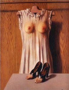 René Magritte - La Philosophie dans le boudoir, 1947.