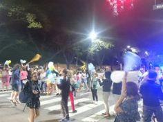 Festejos frente a la Quinta de Olivos tras el triunfo de Macri