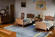 Dollhouse Miniature bedroom suite  Calvin* Photography