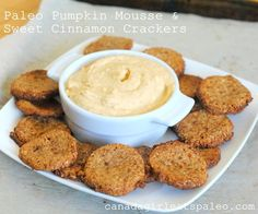 Paleo Pumpkin Mousse and Sweet Cinnamon Crackers