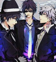 3 hot and mysterious guys....anime