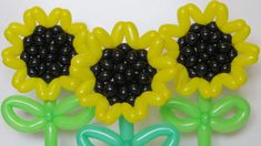 Sunflowers of balloons, twisting tutorial :)