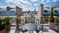 """#Honeymoon Idea: Enjoy views of the """"City of Love"""" at L'Hôtel, Paris. The Penthouse Suite overlooks Saint Germain."""