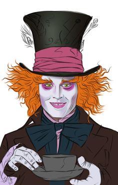 Mad Hatter ( Johnny Depp) in 'Alice in Wonderland' - WetCanvas