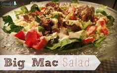 This low carb and THM-friendly salad is my recreation of my favorite fast food burger from my youth- the Big Mac. Enjoy!
