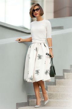 Make the skirt all white and full length - perfect winter bridal outfit