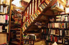 """Inside of the """"Shakespeare and Company"""" store by ittichai, via Flickr"""