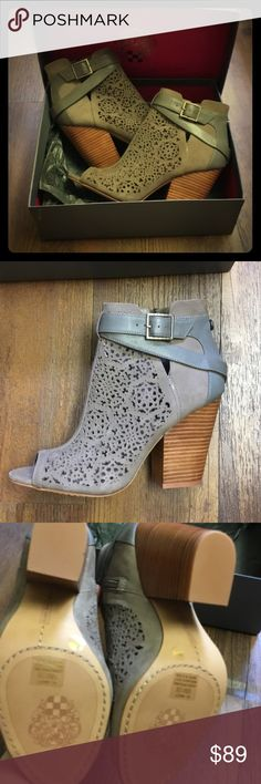 """Vince Cameron """"Maizy"""" Bootie Vince Cameron """"Maizy"""" Bootie size 9M in Smoke Taupe.  Never been worn.  They were ordered from Nordstrom, so they don't have """"tags,"""" but brand new.  Enjoy! Vince Camuto Shoes"""