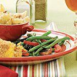 Green Beans With Caramelized Garlic Recipe   MyRecipes.com