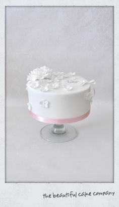 White on White thank you cake  www.thebeautifulcakecompany.weebly.com