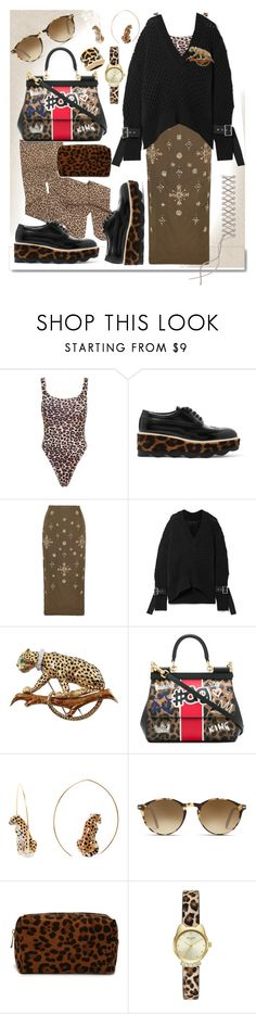"""30.01.18"" by transtetik ❤ liked on Polyvore featuring White Label, Same Swim, Prada, Biyan, Sacai, David Webb, Dolce&Gabbana, Nach Bijoux, Persol and Forever 21"