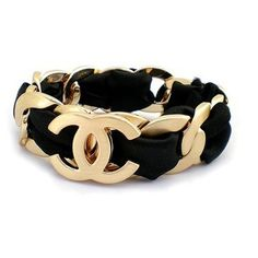 @KatieSheaDesign ♡♡ #Fashion #Accessory ♡♡Black & Gold #Chanel Bracelet
