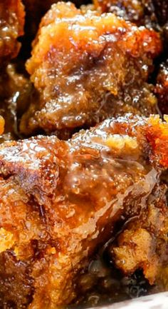 BEST EVER Pumpkin Bread Pudding with Brown Sugar Caramel Sauce More