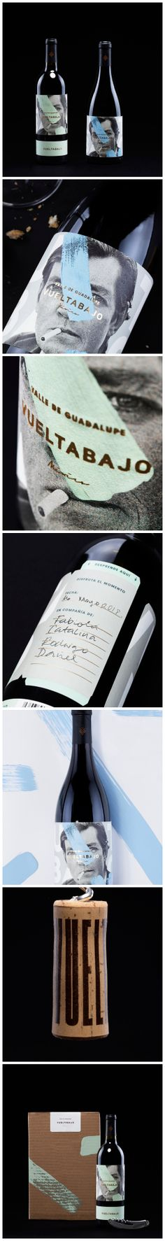 Detachable Label for Mexican Wine that Pays Tribute to a Writer Design Agency:Futura Brand / Project Name:Vueltabajo Location:Mexico Category:#Wine #Drinks  World Brand & Packaging Design Society