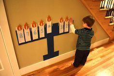 DIY Menorah and teach kids about Hanukkah