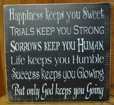 Primitive Rustic Western Happiness Wood Sign/Shelf Sitter Country Home Decor. $24.95, via Etsy.