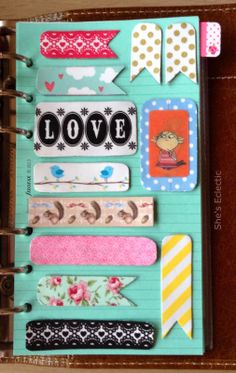 She's Eclectic - making washi tape magnets