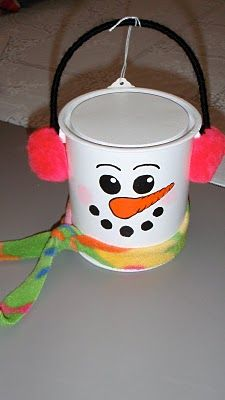 snowman paint can craft