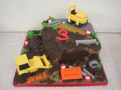 Children's digger birthday cake