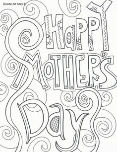 259 Free Mother's Day Coloring Pages for the Kids to Color: Doodle Art Alley's Free Mother's Day Coloring Pages