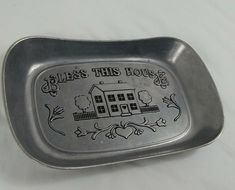 Wilton Large Bread Tray Bless This House Matte Finish Cookie Plate Wilton Armetale, Cooking Supplies, Candy Molds, Blessed, Cookie, Tray, It Is Finished, Plates, House