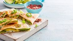 Amazing three cheese quesadillas recipe made even better with avocado, egg and Mexican spices. An easy homemade quesadilla recipe made on the stove. Cheese Quesadilla Recipe, Quesadilla Recipes, Appetisers, Quesadillas, Avocado Egg, Appetizers For Party, Breakfast Recipes, Spicy, Dishes