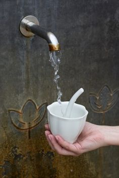 Adéla Chorá: Nectarium, Luhačovický kvítek. Vítězný návrh soutěže Luhačovický lázeňský pohárek, winner, designcompetition, spa, cup, fountain, goblet #design #czechdesign