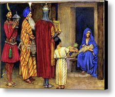 Three Wise Men Bearing Gifts Canvas Print / Canvas Art By Eleanor Fortescue Brickdale