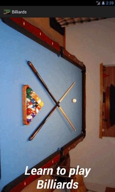 Billiards was developed from a 15th century croquet-like game that over time replaced the lawn with a banked felt table, the mallet with a cue stick, and the wicket with a number of colored balls. Here's a concise rules summary for 8-ball, 9-ball . Information on rules along with some useful Tips for helping you diagnose problems with and improve your grip, bridge, stance, and stroke.Follow the Tips and enjoy playing Pool Billiards.  http://Mobogenie.com