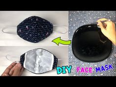 DIY Protective Mask with easy pattern made from dish - Free Online Videos Best Movies TV shows - Faceclips Sewing Hacks, Sewing Tutorials, Sewing Crafts, Easy Face Masks, Diy Face Mask, Diy Masque, Protective Mask, Pocket Pattern, Mask Making