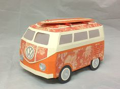 I have decided Tracey is Queen of making German Buses from SURF SHACK SVG KIT!   Here is another super fab bus from Tracey in really sweet colors!   They always are perfect and the colors and patterned papers are spot on!  Keep 'em coming, girl!
