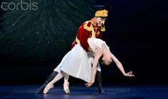 Alina Cojocaru as Clara with Max Westwell as the Nutcracker in Act 1 of English National Ballet's Nutcracker. Photo by Leo Mason