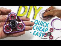 DIY Hand Spinner Fidget Toy | Easy Triple Spinner Fidget - YouTube