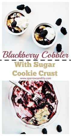 Fall is in the air which means it's time for delicious, warm desserts! This Blackberry Sugar Cookie Cobbler is an easy and quick dessert that your whole family will love.