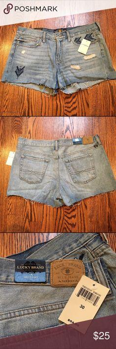 Selling this Lucky Brand Cutoff Denim Shorts on Poshmark! My username is: shawnanicole124. #shopmycloset #poshmark #fashion #shopping #style #forsale #Lucky Brand #Pants