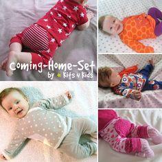 Freebook: Das Coming-Home-Set besteht aus einem Wickelshirt und einer bequemen Babyhose in den Größen 50-68.