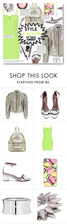 """Yoins"" by sunshineb ❤ liked on Polyvore featuring Off-White, Anja, Casetify, MAC Cosmetics, yoins and loveyoins"